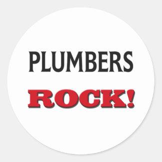 Plumbers Rock Classic Round Sticker