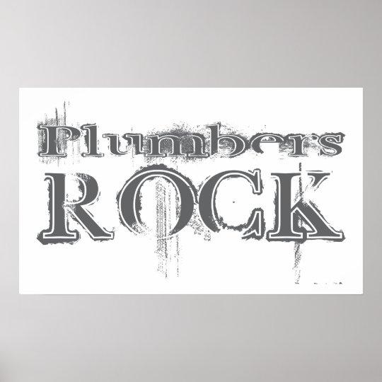 Plumbers Rock Poster