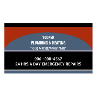Plumbing and Heating Home Maintenance and Repair Pack Of Standard Business Cards