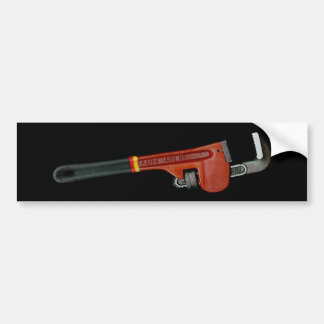 Plumbing business plumbers wrench art photo bumper sticker
