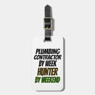 Plumbing Contractor Hunter Luggage Tag