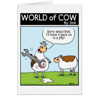 Plumbing cow card