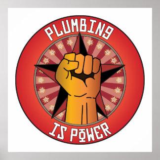 Plumbing Is Power Poster