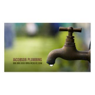 Plumbing Plumber Faucet Water Handyman Maintenance Business Card Templates