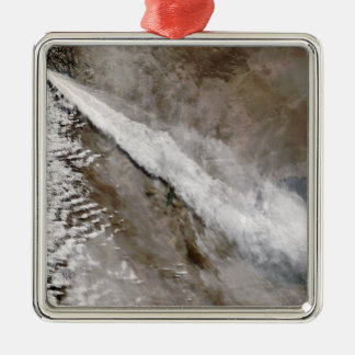 Plume from eruption of Chaiten volcano, Chile Silver-Colored Square Ornament