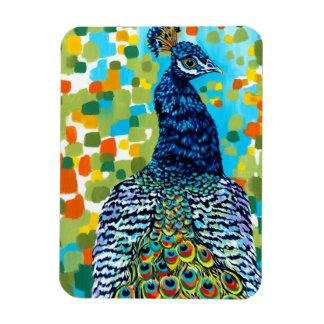 Plumed Peacock II Rectangular Photo Magnet