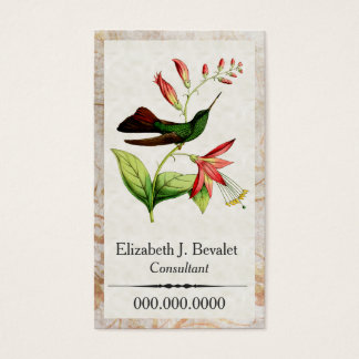 Plumeleteer Hummingbird Business Cards