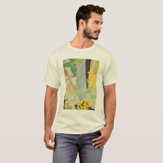 Plumeria Blooms in the Creekbed Watercolor T-Shirt
