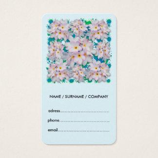 Plumeria Bouquet Exotic Summer Pattern Business Card