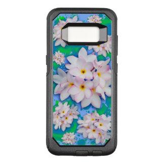Plumeria Bouquet Exotic Summer Pattern OtterBox Commuter Samsung Galaxy S8 Case