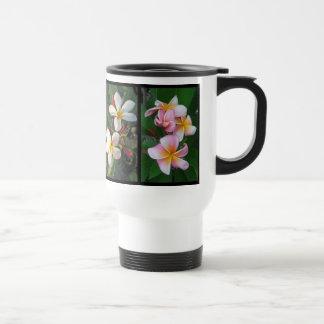 Plumeria Collage Travel Mug