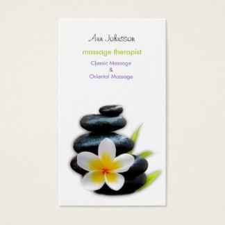 plumeria design business card