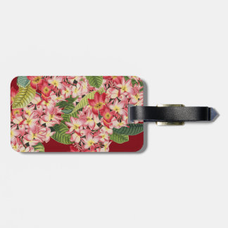 Plumeria Floral Tropical Flowers Luggage Tag