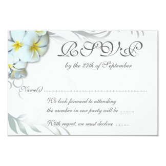 Plumeria Flourish RSVP Wedding Enclosure Card