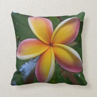 Plumeria Flower Cotton Pillow