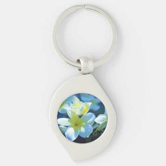 plumeria flower keychain