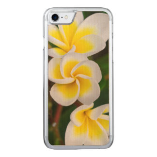 Plumeria flowers close-up, Hawaii Carved iPhone 8/7 Case