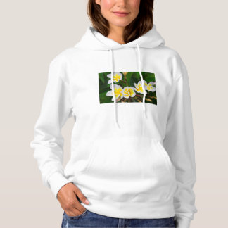 Plumeria flowers close-up, Hawaii Hoodie