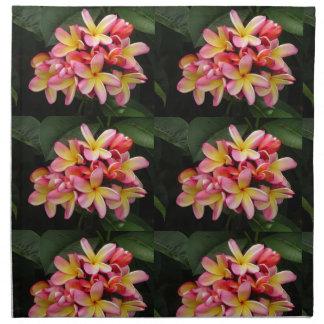 Plumeria Flowers Cloth Napkins