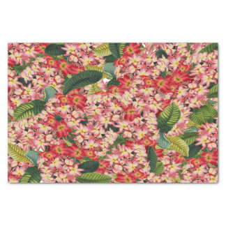 Plumeria Flowers Floral Tropical Tissue Paper
