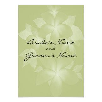 Plumeria Flowers Wedding Invitation