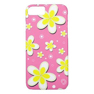 Plumeria Frangipani Floral Custom Color Pink Slim iPhone 7 Case