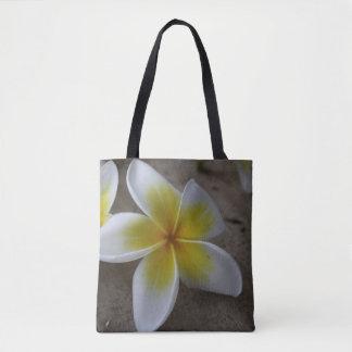 Plumeria - Frangipani Floral Photograph Tote Bag