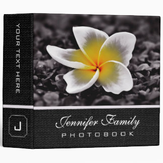 Plumeria Frangipani Flower Family Photo Books #2 3 Ring Binders