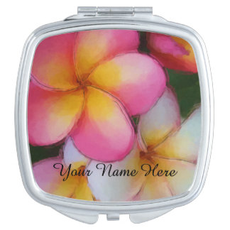 Plumeria Frangipani Flowers Travel Mirror