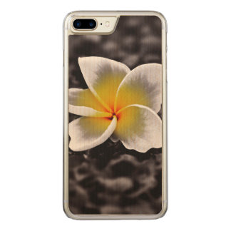 Plumeria Frangipani Hawaii Flower Carved iPhone 8 Plus/7 Plus Case