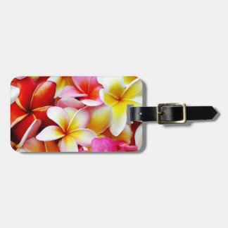 Plumeria Frangipani Hawaii Flower Customized Bag Tag