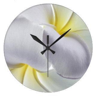 Plumeria Frangipani Hawaii Flower Customized Blank Clock