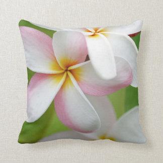 Plumeria Frangipani Hawaii Flower Customized Blank Throw Pillows
