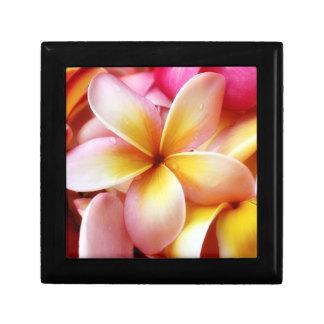 Plumeria Frangipani Hawaii Flower Customized Blank Trinket Box