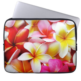 Plumeria Frangipani Hawaii Flower Customized Laptop Sleeve