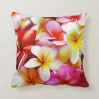 Plumeria Frangipani Hawaii Flower Customized Throw Pillow