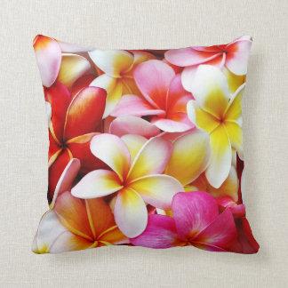 Plumeria Frangipani Hawaii Flower Customized Throw Pillow
