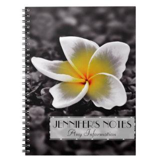 Plumeria Frangipani Hawaii Flower Note Book