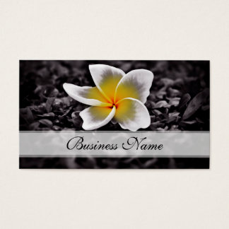 Plumeria Frangipani Hawaii Flowers Business Card