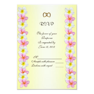 Plumeria Frangipani Invitation response card