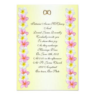 Plumeria Frangipani Wedding Invitation