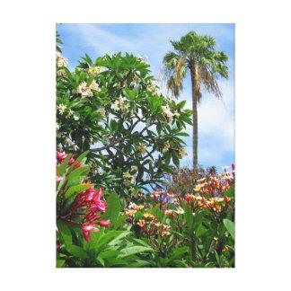 Plumeria Garden Canvas Print