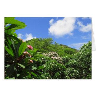 Plumeria Garden Card