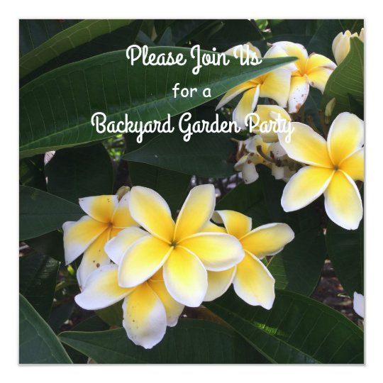 Plumeria Garden Party Invitation
