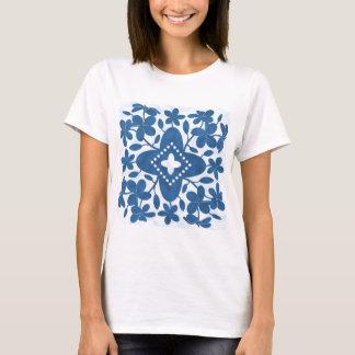 Plumeria Hawaiian Quilt Block T-Shirt