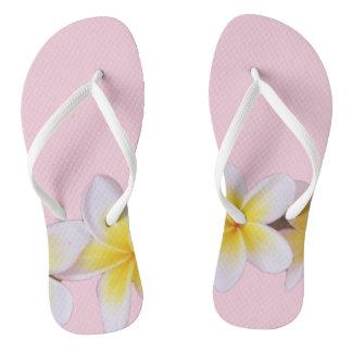 Plumeria on Pretty Pink Flip Flops
