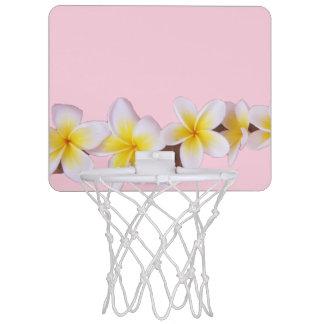 Plumeria on Pretty Pink Mini Basketball Hoop