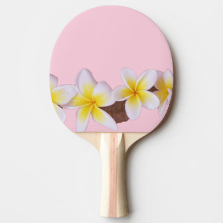 Plumeria on Pretty Pink Ping Pong Paddle