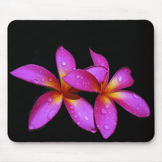 Plumeria purple mousepad