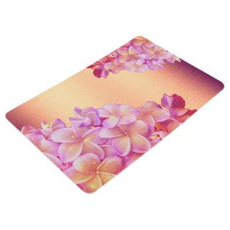 Plumeria Sunset Floor Mat
